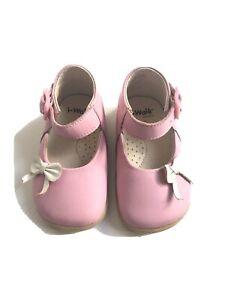 I-Walk by Bobux Pink Leather Bow Girl Toddler Shoes sz 2 UK / 18 EUR / 3 USA