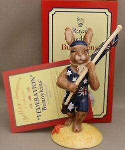"Royal Doulton Bunnykins Figure - *""Federation"" - DB224 - Brand New - Certificate"
