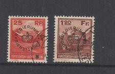 Liechtenstein Dienst Nr. 9, 10, gestempelt