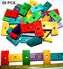 Colored wood wooden blocks bird parrot toys parts mini macaw Senegal amazon