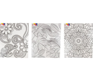 Colour In Canvas A4 Large Kids Adult Artist Painting Colouring Set Art Craft X 1