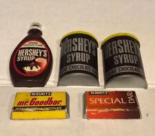 Vtg lot 5 Hershey's Syrup Goodbar Choc Dark Ref Refrigerator Magnets candy