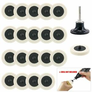21pcs 2inch Roloc Wool Polishing Wheel Grinding Buffing Pads For Rotary Tool NEW