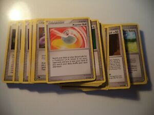 (DWX) 100 DIFFERENT POKEMON TRAINER CARDS 90 ENGLISH 10 SPANISH LIGHTLY PLAYED