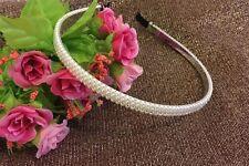 New Pretty sparkley Pearl Bead Aliceband Bride Bridesmaids Flower Girl Headband