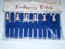 12 pinces à linge avec résine phare. Décoration de mariage.