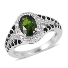 Chrome Diopside Zircon Natural Fine Rings