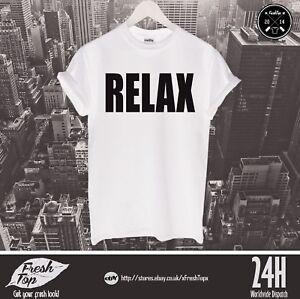 Relax T Shirt Friends Frankie Say Retro Clubbing Party Fancy Dress Birthday Gift
