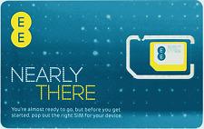 100 EE 4G Pay As You Go *Nano/Micro/Standard* SIM PAYG