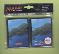 Ultra Pro MTG Unhinged Full Art Land 80ct Card Deck Sleeves Island Blue 86455