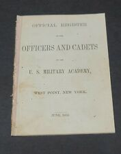 Usma West Point 1858 Register George Armstrong Custer Andrew Jackson Jr