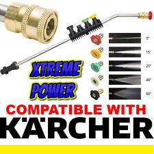 Pressure Washer Gun Lance Spray Wand Jet Wash Car Patio + 5 Nozzles For Karcher