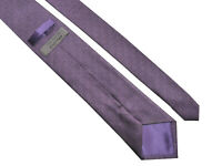 TED BAKER KNOTTED Classic Mens Purple Geometric Pattern Silk Tie - RRP £55