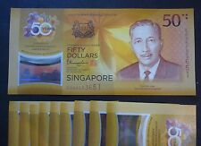 2017 Brunei & Singapore 50th Anniversary Commemorative $50 Polymer Banknote UNC