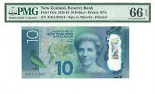 MONEY NEW ZEALAND 10 DOLLARS 2015 RESERVE BANK PMG SUPERB GEM UNCPICK #192a