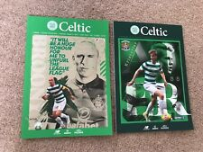 Celtic v Hearts Aug + Kilmarnock Cup  Sept Programme Both Mint New 2017 !