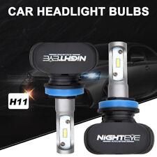 2X Nighteye H11 8000LM COB LED Phare de voiture Headlight KIT Ampoule 6500K
