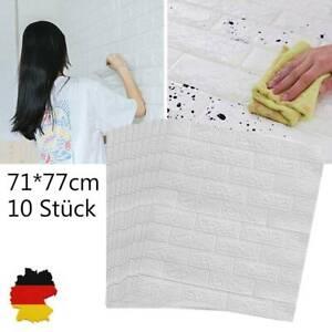 10 Tlg 3D Tapete Wandpaneele Selbstklebend Ziegel Wandaufkleber Wasserfest DHL