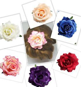 Bridal Rose Flower Hair Clip Wedding Accessory