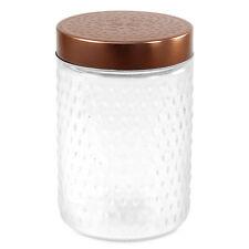 1 L hermétique Baroque Stockage Récipient en verre candy jar CUIVRE couvercle en...