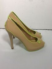 St730 Rocawear Women's Open-Toed Nude Pump Stillettos Size 8.5 Medium