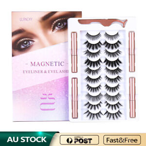Ulanchy Magnetic False Eye lashes Natural Extension Liquid Eyeliner replacement