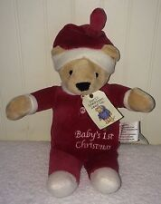 "North American Bear Co Baby's First 1st Christmas Teddy Santa Suit 10"" 6166 2010"