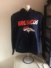 Men's Denver Broncos Nike Therma Fit Hoodie M Navy