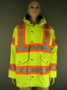 WEMBLEY SATURN YELLOW WATERPROOF BREATHABLE FLEECE LINED HI-VIS JACKETS M-5XL