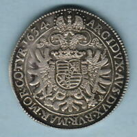Hungary. 1634-KB Thaler.. Kremnitz Mint..  VF/gVF