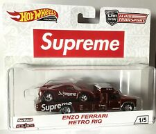 HOT WHEELS SUPREME TEAM TRANSPORT ENZO FERRARI RETRO RIG #1/5 WORLDWIDE AMAZING