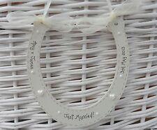 Wedding personalised wooden horseshoe