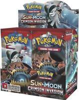 Sun & Moon Crimson Invasion 9 Booster Pack Lot 1/4 Booster Box POKEMON TCG
