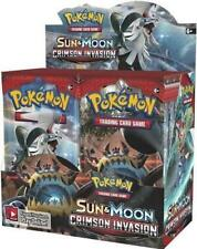Sun & Moon Crimson Invasion 18 Booster Pack Lot 1/2 Booster Box POKEMON TCG