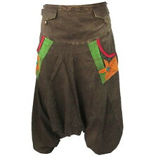 BOHO HIPPIE BAGGY GYPSY DROP CROTCH LONG COTTON PANTS w 4-POCKETS  F0727