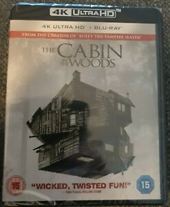 The Cabin In The Woods 4K + Blu-ray (2 Disc Set) Brand New Sealed