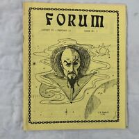 Star Trek TOS Forum #9 Fanzine Magazine Vtg Sci Fi Zine Listing Reviews