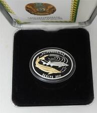 2011 Kazakhstan Large Silver Proof 500 T Sturgeon-Nice Box