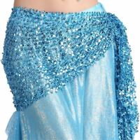 Belly Dance Hip Scarf Belt Hand Crochet Belt Skirt Sequin Dancing Costume veil
