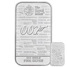 ++ James Bond 007 - 1oz Silberbarren - 2020 ++