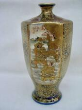 Japanese Satsuma Hexagonal Signed Vase of Fine Quality in Perfect Condition.