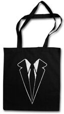 Suit Stofftasche Einkaufstasche Suits Fun tie necktie Sakko Costume Halloween