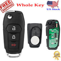 For 2015 2016 2017 2018 2019 2020 Ford F-150 F-250 F-350 Car Remote Flip Key Fob