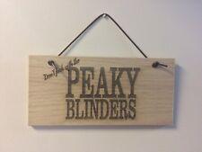 #24 PEAKY BLINDERS Wooden Plaque Door Room Sign with Leather Hanger man cave