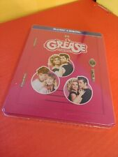 Grease Collection Steelbook (Blu-ray+Digital) NEW-Grease +Grease 2 + Grease Live