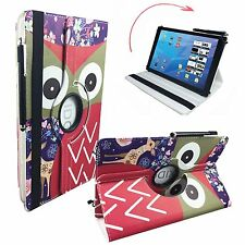 Hülle Tasche Samsung Galaxy Tab 2 P5100 Tablet Cover Etui 360° Reh Eule 10.1""