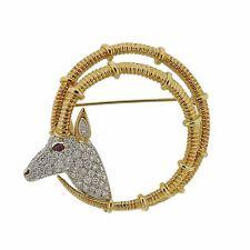 Tiffany & Co Schlumberger Platinum 18k Gold Diamond Ibex Brooch