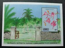 Dominica Botanical Garden Orchid 1989 Flower Flora Plant (miniature sheet) MNH