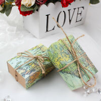 100x Sweet Paper Candy Box Travel Theme World Map Gift Box Party Wedding Favors