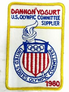 """1980 """"US Olympic Committee Supplier Dannon Yogurt"""" Patch Embroidered NOS"""